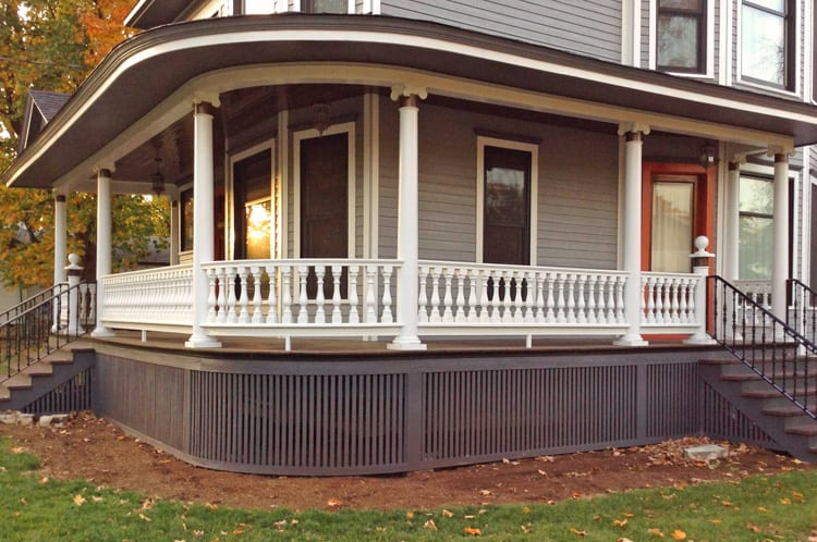 187 Victorian Porch With Curved Railing In Frankfort Il