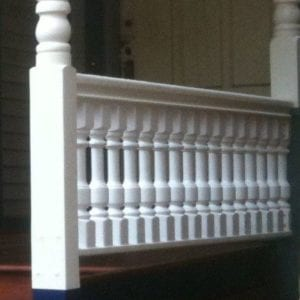 Colonial turned porch balusters