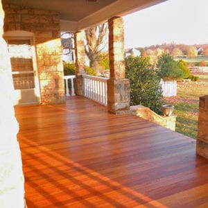 Custom Porch floor and railing