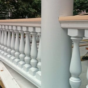 Revival spindles and custom porch railing