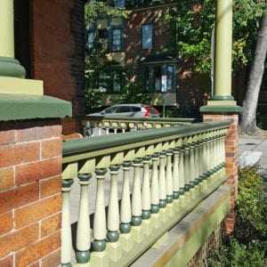 Baseball bat porch spindles