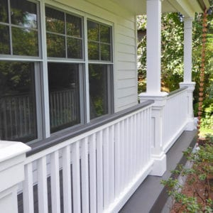 Square balusters and columns with pedestals