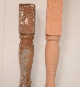 Custom table leg reproduction