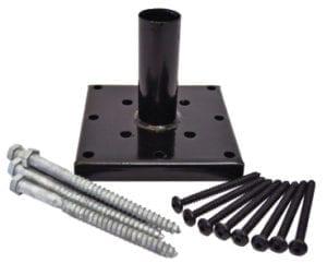 4x4 outdoor wood newel post anchor hardware