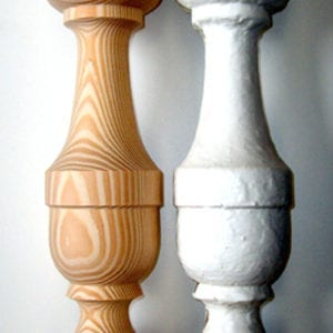 reproduction porch balusters next to original
