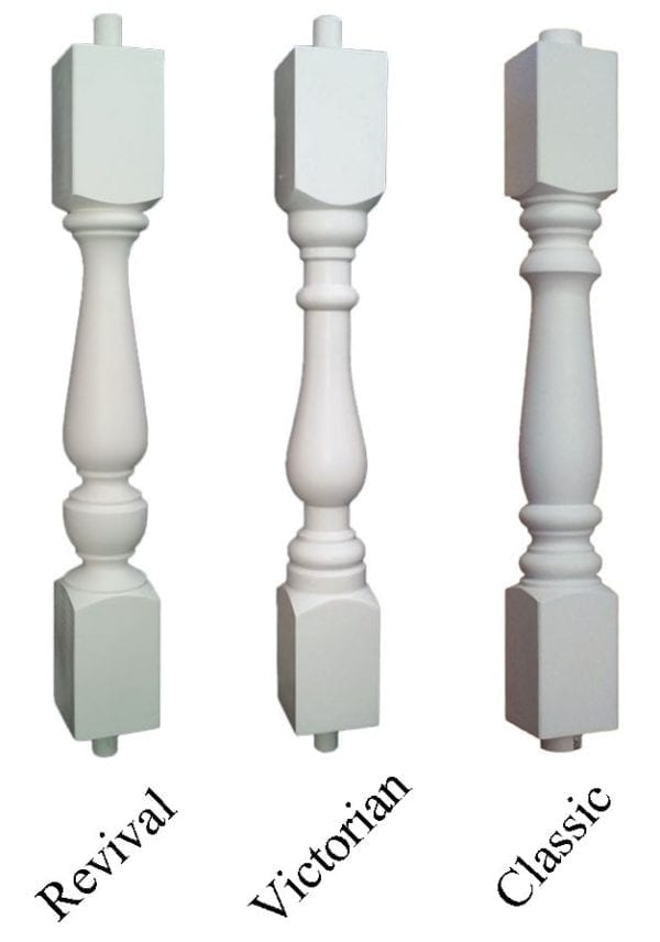 "3 1/2"" synthetic porch spindles"