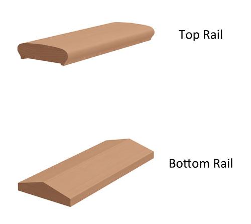 "6"" 2-piece Wood Porch Rail"