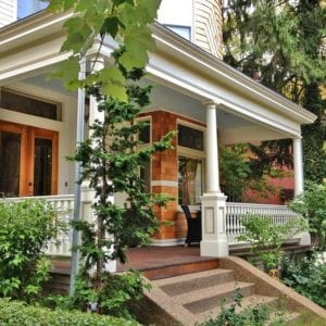 Victorian porch spindles, railing, and columns