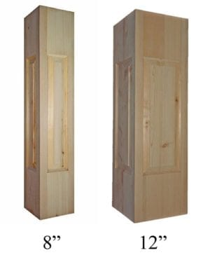 Raised panel newel posts