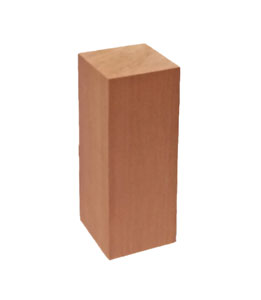 wood porch railing support block