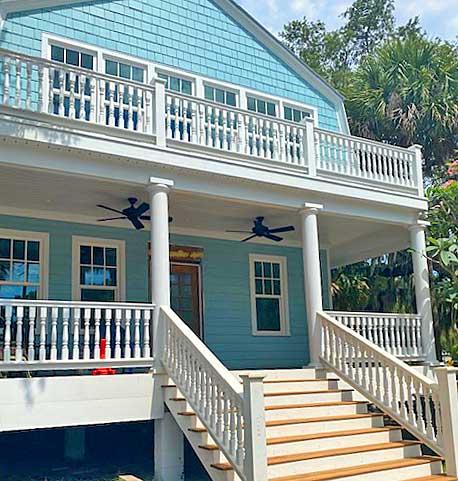 Wood Porch Spindles Florida