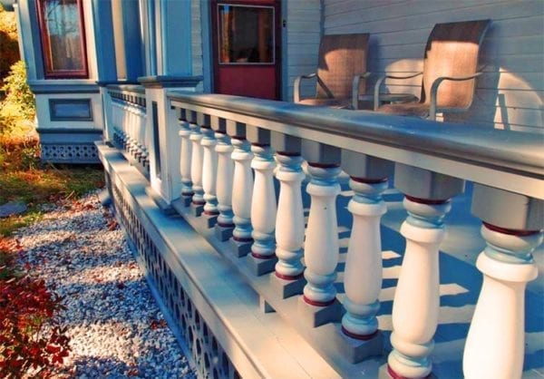 Porch railing restoration
