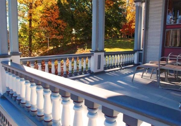 Classic covered porch spindles