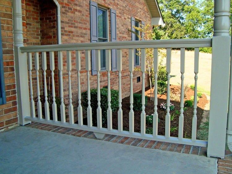 Cedar Deck Railing System For Robust Traditional Wood Porches Decks