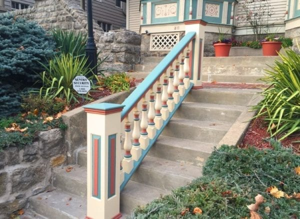 Raised panel newel post and Victorian spindles
