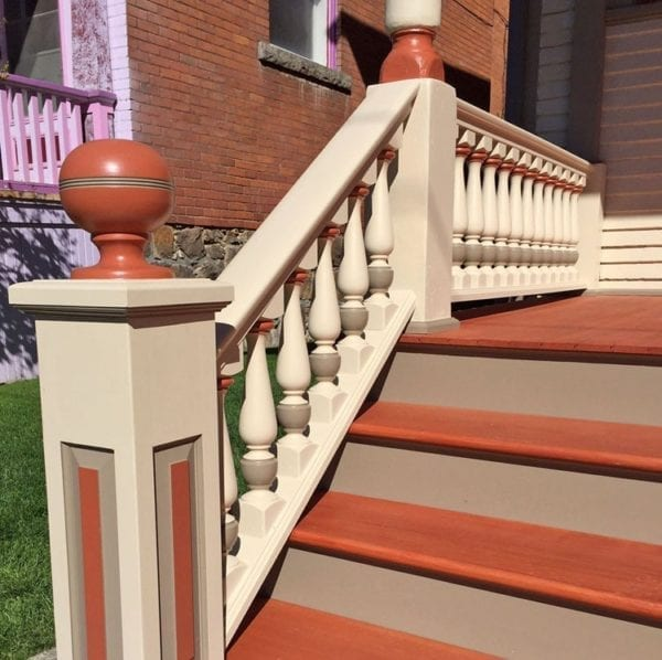 Front stair railing