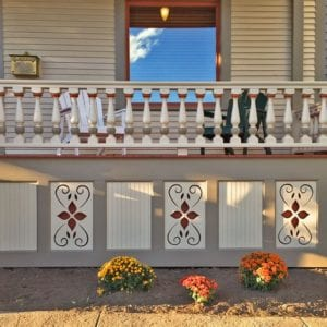 covered front porch railing