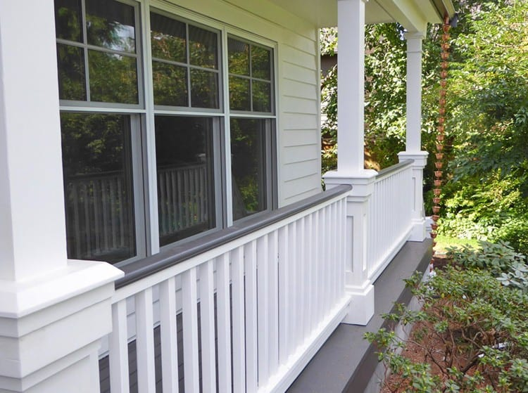 Cedar wood porch railing system for robust traditional for 10 foot porch columns