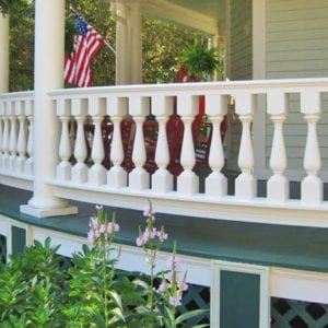 Curved porch railings