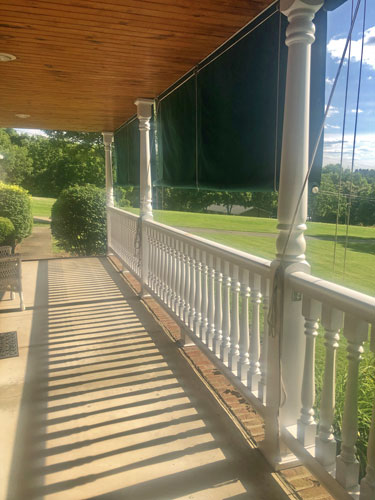 Polyurethane porch balusters, railing, porch posts