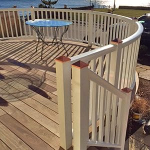 Curved deck railings