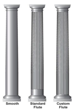 Round tapered column options