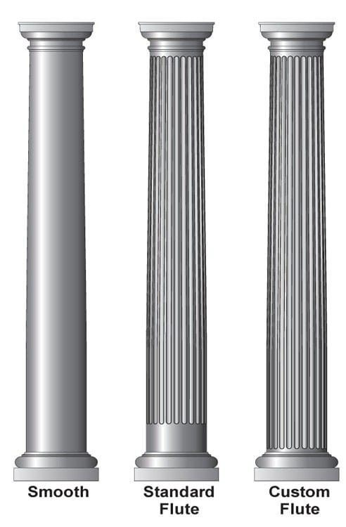 Fiberglass Column Caps : Quot round tapered architectural column