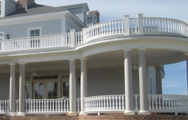 Curved Porch Railing: the Ultimate in Exterior Architectural Millwork