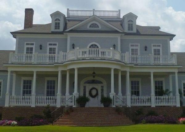 Georgia home with porch balustrades
