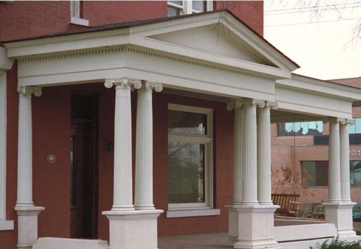 Architectural Column Base : Quot round tapered architectural column