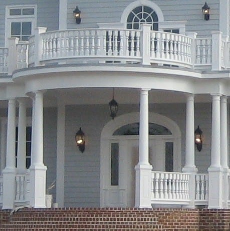 2 story porch balustrades