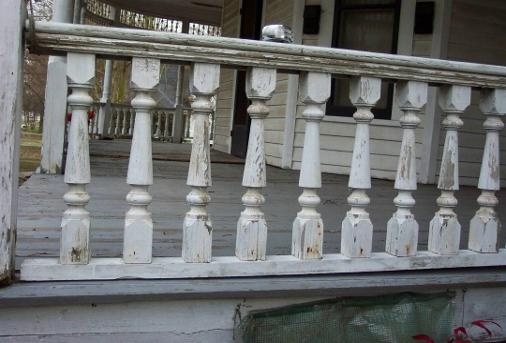 Old Porch Railing Spindles To Be Replaced