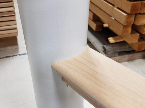 Wood Rail on Round Column