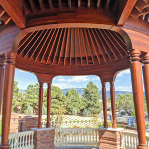 Hardwood gazebo balustrade