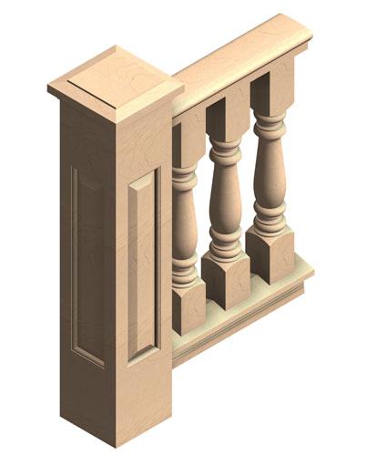 "6"" cedar porch railing"