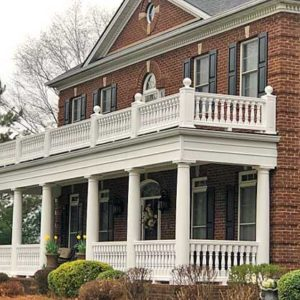 Two story porch balustrade